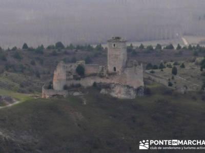 Castillo de Ucero - Senderismo Cañón del Río Lobos - trekking y aventura; grupos de senderismo en